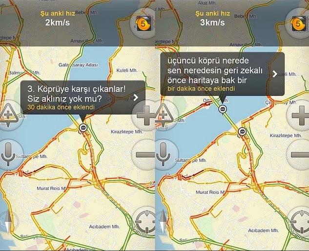 Yandex haritalara eklenmiş komik notlar 3