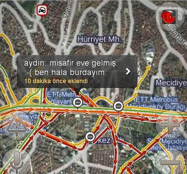 Yandex haritalara eklenmiş komik notlar 9