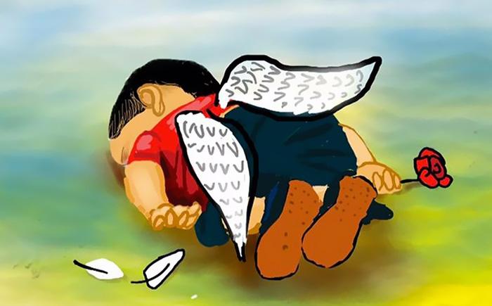 Denizde boğulan suriyeli göçmen çocuk aylan kurdi çizimleri 4