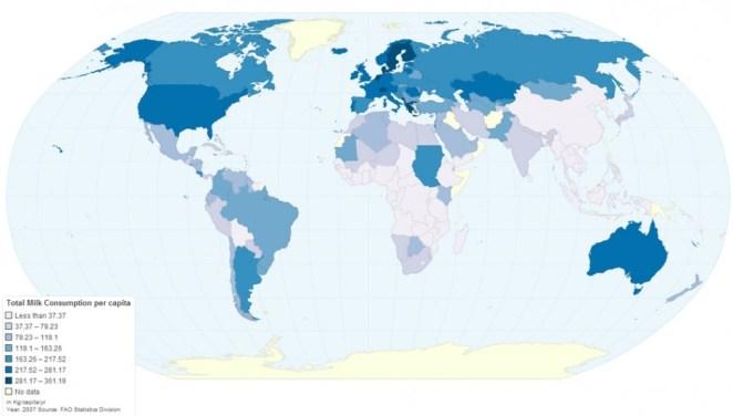süt tüketim haritası