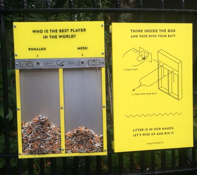 sigara izmariti çöplerine çözüm