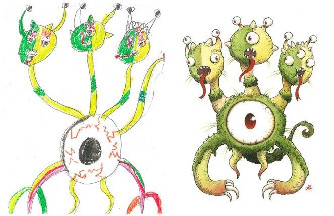 çocuk çizimleri canavarlar 4