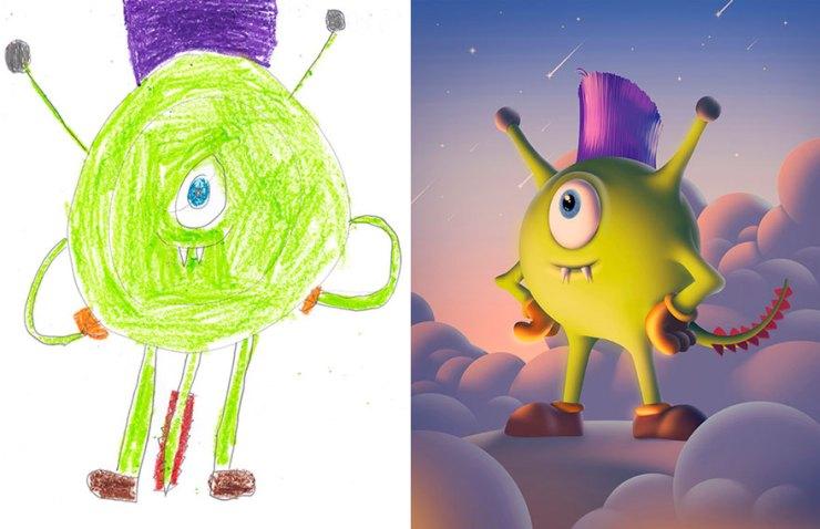 çocuk çizimleri canavarlar 6