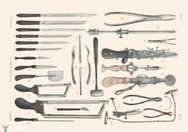 19. yydan cerrahi çizimler
