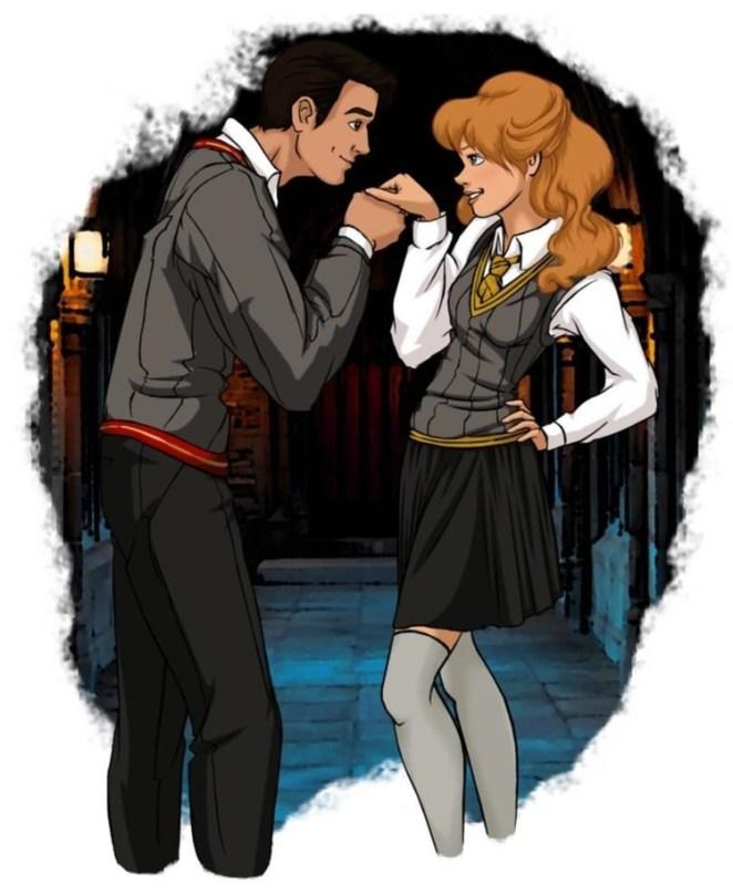 Cinderella and Prince Charming.