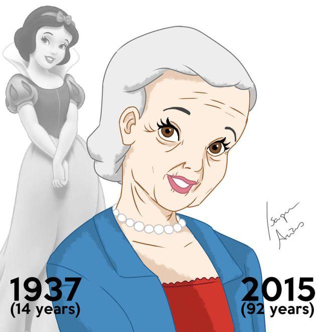 Disney prensesleri bugün yaşıyor olsaydı yaşlı halleri 1