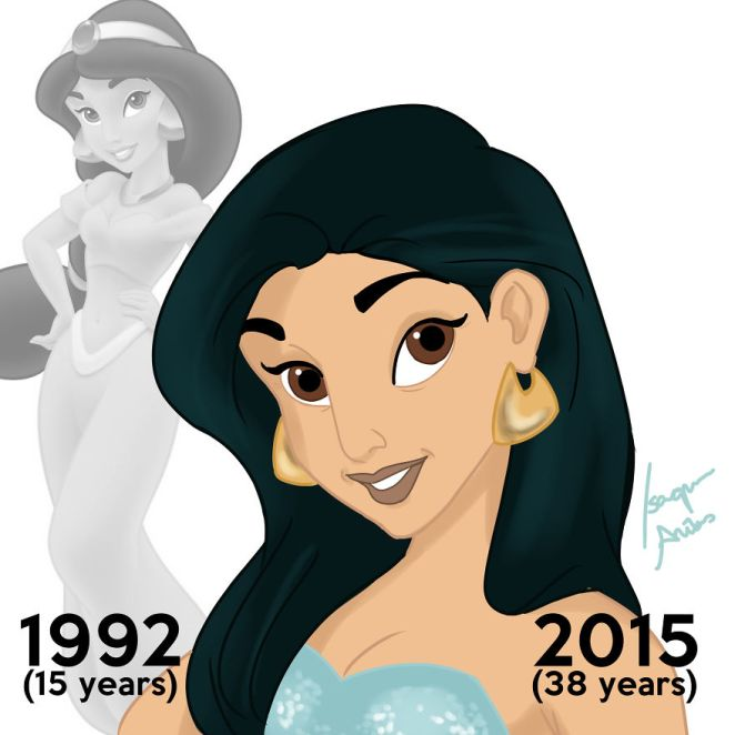 Disney prensesleri bugün yaşıyor olsaydı yaşlı halleri 5