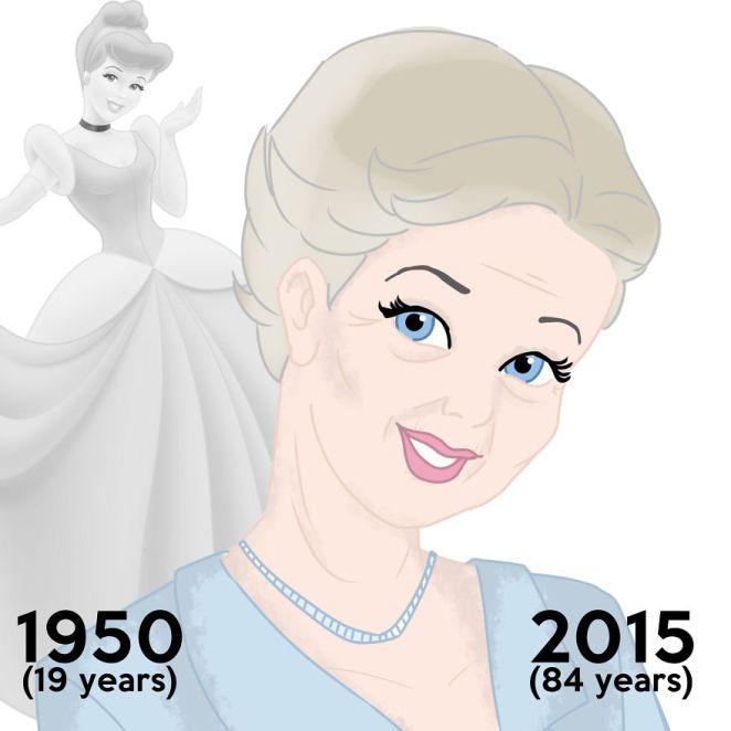 Disney prensesleri bugün yaşıyor olsaydı yaşlı halleri 6