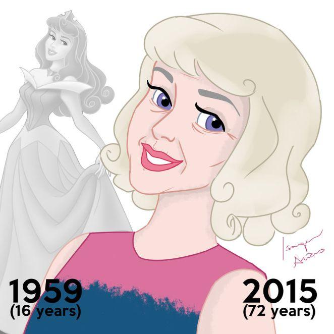 Disney prensesleri bugün yaşıyor olsaydı yaşlı halleri 8