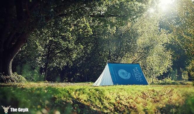 kitap şeklinde çadır