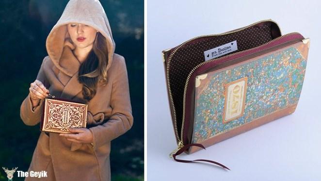 kitap şeklinde cüzdan