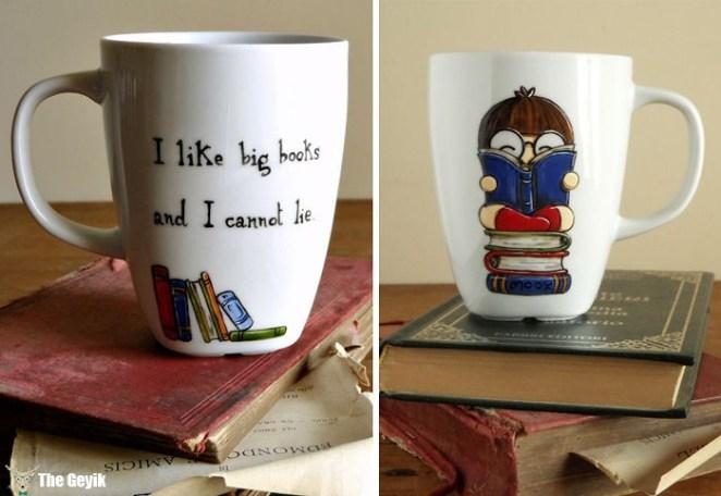 kitap sevenlere özel kupa