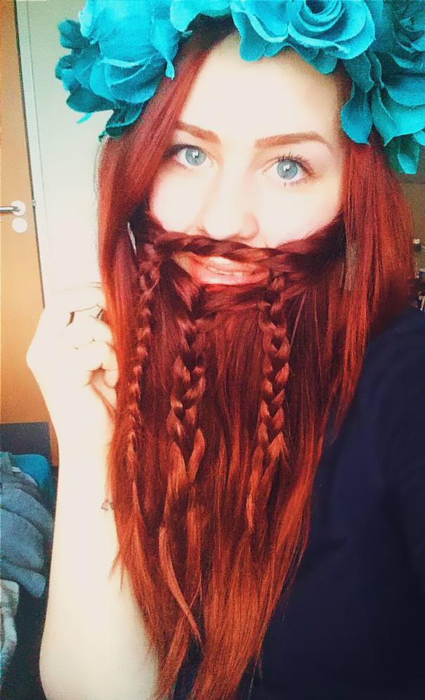 saçlarını sakal yapan sakallı kadınlar 1