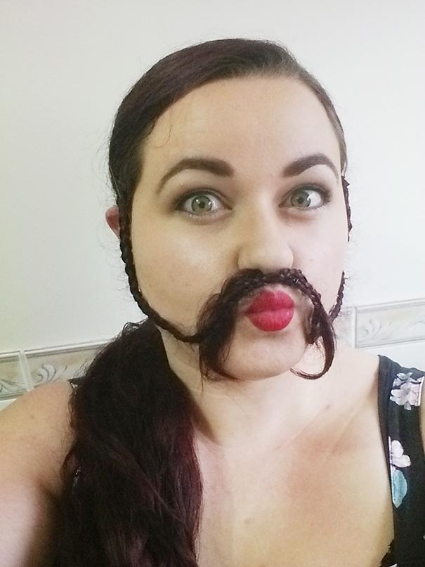 saçlarını sakal yapan sakallı kadınlar 3