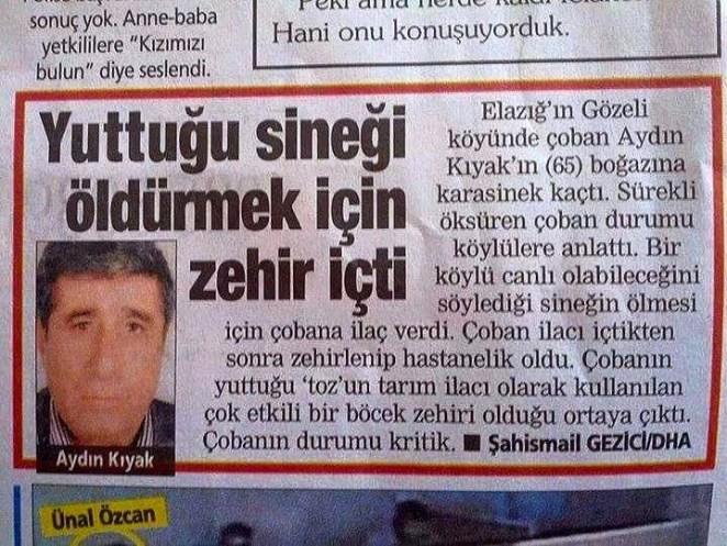 Türkiyeden ilginç garip komik haberler 1