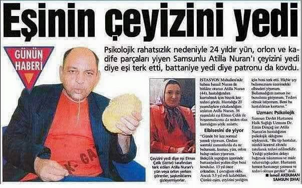 Türkiyeden ilginç garip komik haberler 8