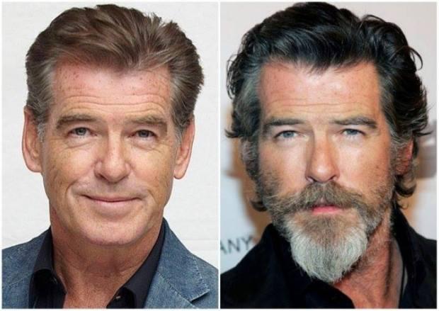 Ünlülerin sakallı ve sakalsız halleri 7
