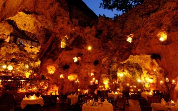 Ali Barbour's Cave Restaurant in Diani Beach, Kenya