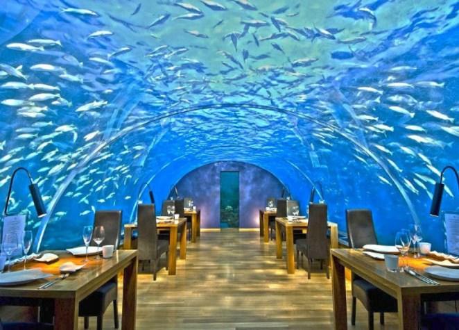 Ithaa Undersea Restaurant in Maldives