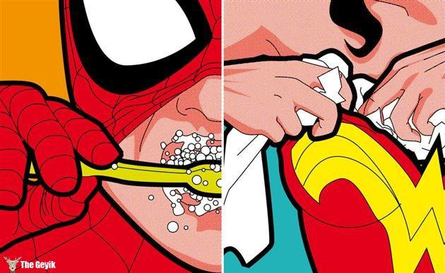 Süper Kahramanların Bize Gösterilmeyen Gizli Hayatı Greg Guillemin 30