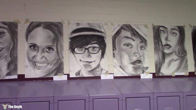 okul arkaslarinin resimlerini gizlice cizen Phillip Sossou2