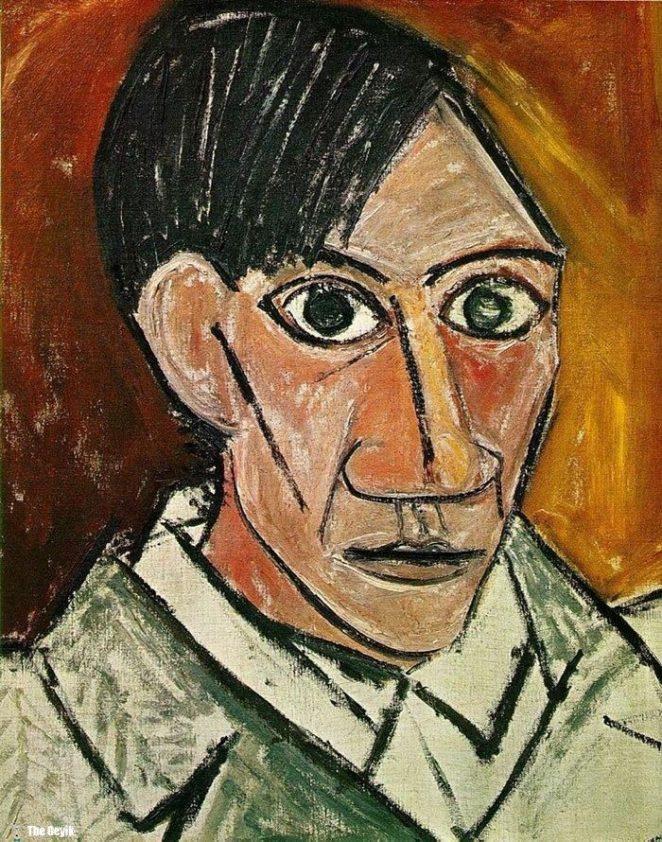Picasso'nun kendini cizdigi resimler 25
