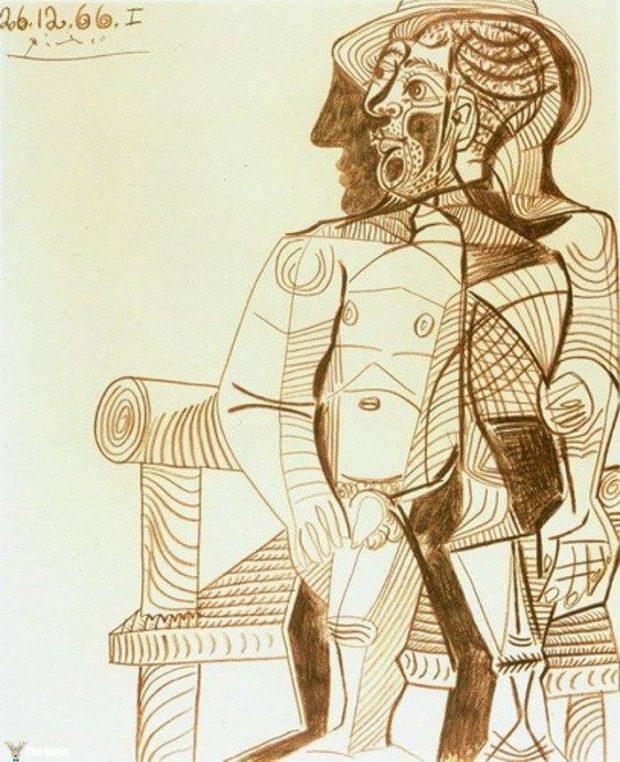 Picasso'nun kendini cizdigi resimler 85
