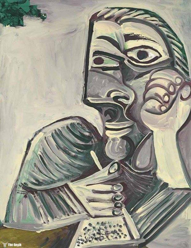 Picasso'nun kendini cizdigi resimler 89