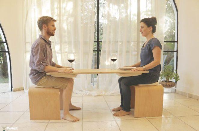 yemeği bitirmenizi mecbur kılan sevgili masası