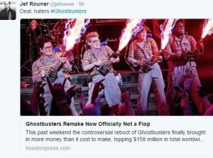 jef rouner vs ghostbusters haters