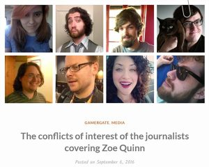 the conflicts of interest of the journalists covering zoe quinn