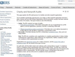 irs charity and nonprofit audits