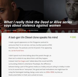 jonathan holmes what i really think the dead or alive series says about violence against women