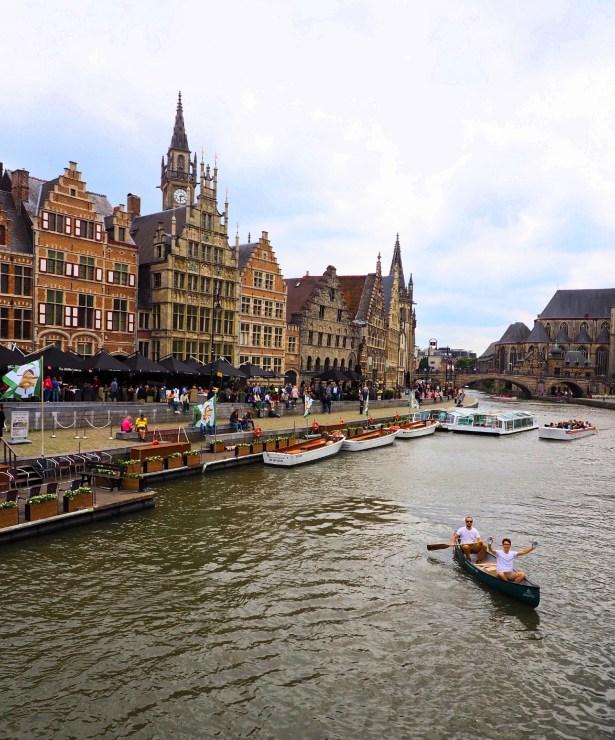 kano op kanotocht in centrum Gent, The Ghentist