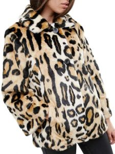 ASOS Swing Coat in Leopard Faux Fur £75