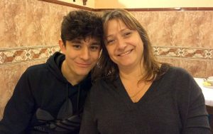 Felix with his mum, Lucy