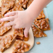 10 Minute Microwave Peanut Brittle - Nanny's Peanut Brittle Recipe - Microwave Candy - Holiday Candy - Quick Dessert - The Gifted Gabber