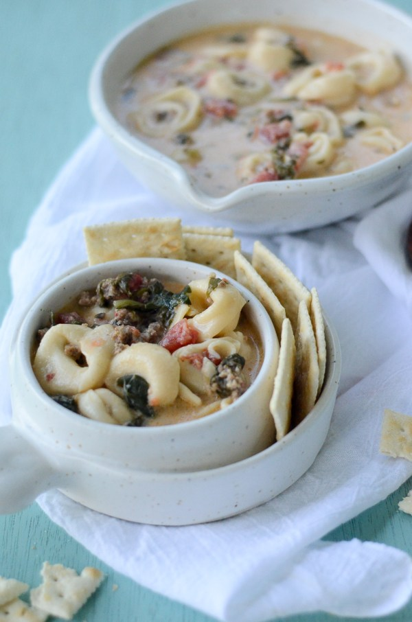 Sausage and Cheese Tortellini Soup - Stovetop Soup - Easy Soups - Weeknight Meals - The Gifted Gabber
