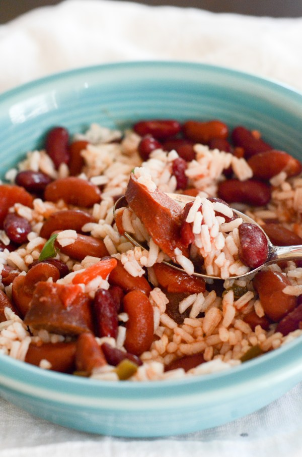 Slow Cooker Red Beans and Rice - The Gifted Gabber