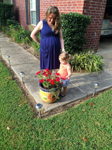 Navy Dress - Maternity Style - The Gifted Gabber