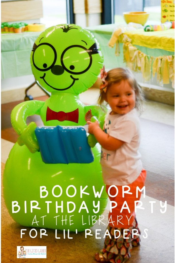 This Library Bookworm Birthday Party Theme Is Perfect For Your Little