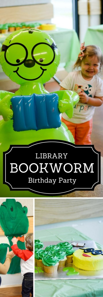 Library Bookworm Birthday Party - Kid Birthday Parties - Toddler Birthday Parties - Library Birthday Parties - The Gifted Gabber