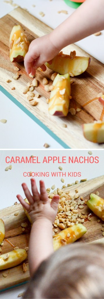 Caramel Apple Nachos - Cooking with Kids - The Gifted Gabber