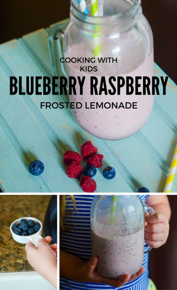 Blue Raspberry Frosted Lemonade - Blueberry and Raspberry Ice Cream Drink - The Gifted Gabber