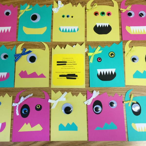 DIY Little Monsters Birthday Party Invitations - The Gifted Gabber