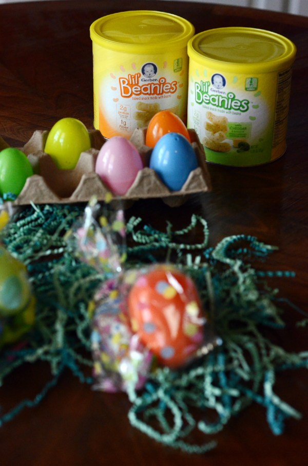 Toddler Easter Party Favors Using Gerber Lil' Beanie Snacks