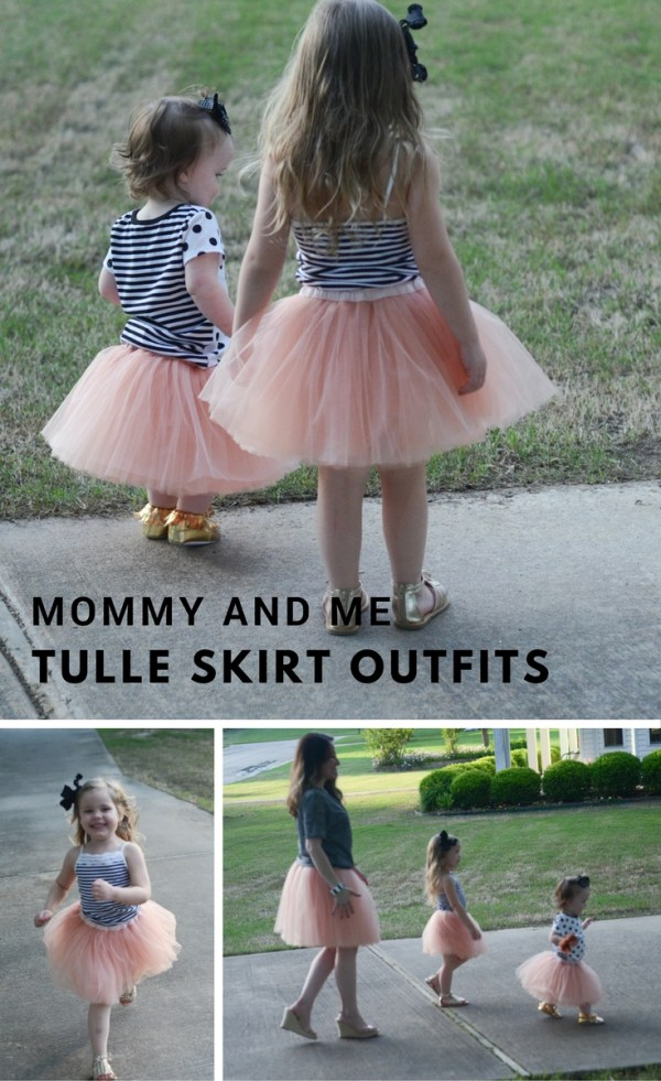 Mommy and Me Tulle Skirt Outfits - Tutus - Coordinating Outfits - Little Girl Fashion - Little Girl Style - Little Girl Outfit Ideas - Women's Fashion - Women's Style - Women's Outfit Ideas - The Gifted Gabber