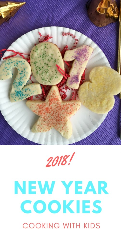 New Year Cookies with Number Cookie Cutters - The Gifted Gabber