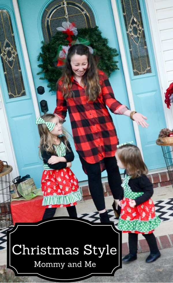 Mommy and Me Christmas Outfits - Christmas Style - Mommy and Me Fashion - Coordinating Outfits - Christmas Owls Dresses - Little Girl Fashion - Little Girl Style - Mommy Style - Women's Fashion - Buffalo Print - What We Wore - The Gifted Gabber