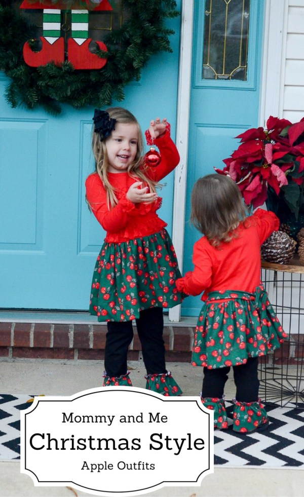 Mommy and Me Christmas Style - Apple Dresses - Little Girl Style - Little Girl Fashion - Women's Style - Winter Fashion - Winter Style - Holiday Style - The Gifted Gabber